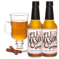 Eli Mason Spiced Simple Syrup - All-natural Cocktail Mixer - Uses Real Cane Sugar, Assorted Spices & Proprietary Blend Of Cocktail Bitters - Made In USA, Small Batch Cocktail Mixes - 2 x 10 Ounces