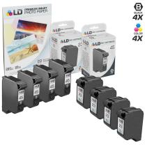LD Remanufactured Ink Cartridge Replacements for HP 45 & HP 23 (4 Black, 4 Tri-Color, 8-Pack)