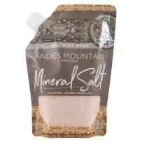 SaltWorks Bolivian Rose Andes Mountain Salt, Fine, Artisan Pour Spout Pouch, 16 Ounce