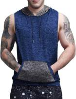 COOFANDY Mens Gym Tank Top Sleeveless Workout Hooded Shirts