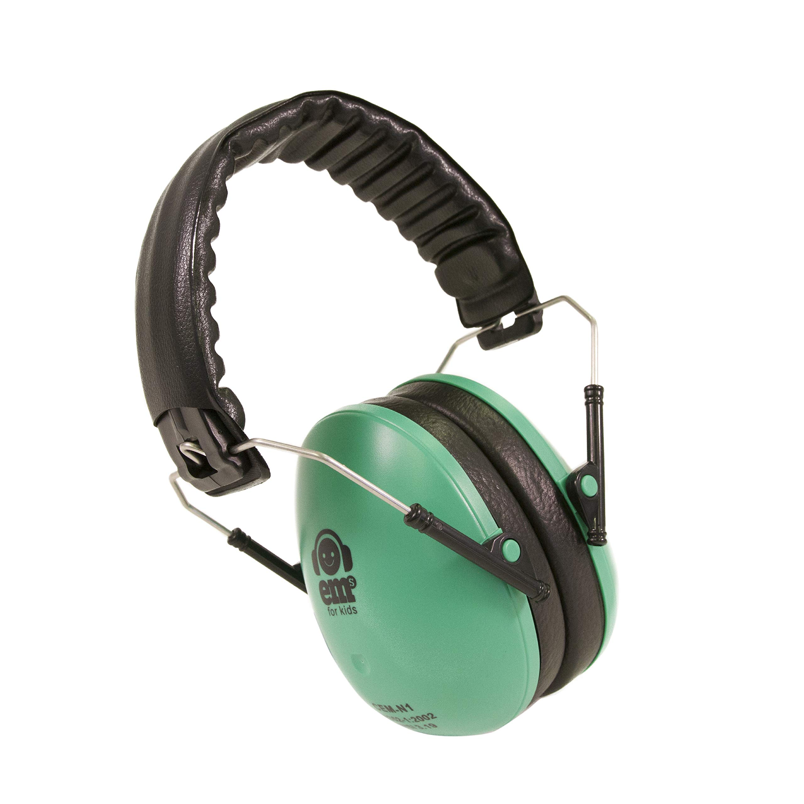 Ems for Kids Earmuffs - Mint. The Original Folding Children's Earmuff Since 2007. Use at Loud Events Including NASCAR, air Shows, Concerts, Festivals and More!