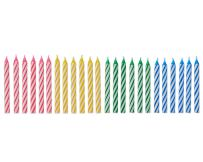 American Greetings Spiral Birthday Candles, Assorted Colors (24-Count)