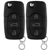 ECCPP 2PCS Replacement Keyless Entry Key Fob Uncut Case Fob Remote Key Shell for Audi A4 A6 A8 S4 S6 S8 Cabriolet allroad TT 4D0837231E