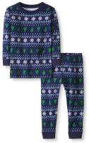 Moon and Back by Hanna Andersson Boys' and Girls' Organic 2 Piece Long Sleeve Pajama Set
