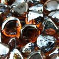 Cowboy Brown - Fire Glass Diamonds for Indoor and Outdoor Fire Pits or Fireplaces | 10 Pounds | 1 Inch