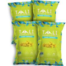 Taali Tangy Turmeric Water Lily Pops (4-Pack) - Taste with Benefits   Protein-Rich Roasted Snack   Non GMO Verified   2.3 oz Multi-Serve Bags