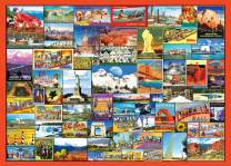 VARWANEO Puzzle 1000 Pieces for Adults Best Places in America Colorful Landscape Jigsaw Puzzle Home Game for Men Women Kids(America's Best Attractions)