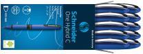 Schneider ONE Hybrid C Rollerball Pen, 0.5mm, Blue, Box of 10 (183203)