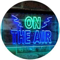 """ADVPRO On Air Studio Recording in Progress Dual Color LED Neon Sign Green & Blue 24"""" x 16"""" st6s64-i2066-gb"""