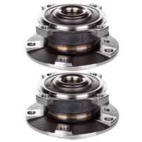 SCITOO Compatible with Wheel Bearing and Hub Assembly OE 513172 for 1997-2005 BMW Wheel Hub Bearing 5 Bolts W/ABS (2 Pads)