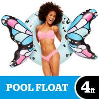 BigMouth Inc Butterfly Wings Pool Float, Pool Tube with Patch Kit Included (Blue)