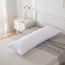 """Acanva Fluffy Bed Sleeping Side Sleeper Body Pillow Insert, Full 20"""" x 54"""", White"""