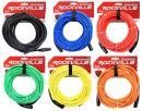 6 Rockville 50' Female to Male REAN XLR Mic Cable 100% Copper (6 Colors)