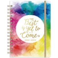 """Planner 2021-2022 - Academic Weekly & Monthly Planner with Tabs, 6.3"""" x 8.4"""", June 2021 - July 2022, Hardcover with Back Pocket, Thick Paper + Banded + Twin-Wire Binding - Watercolor Ink"""