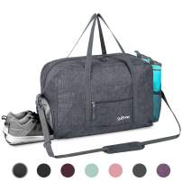 Sports Gym Bag with Wet Pocket & Shoes Compartment, Travel Duffel Bag for Men and Women Lightweight