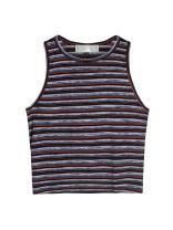 Joeoy Women's Basic Sleeveless Crop Tank Top T-Shirt