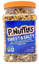 Adams & Brooks P-Nuttles Sweet & Salty Butter Toffee Peanuts Jar (34 Ounces) Made in the USA, Kosher