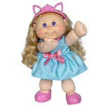 """Cabbage Patch Kids 14"""" Kids Doll - Blonde Girl in Polka-Dot Party Outfit"""