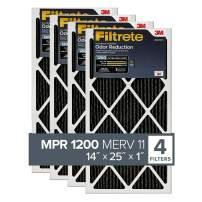 Filtrete 14x25x1, AC Furnace Air Filter, MPR 1200, Allergen Defense Odor Reduction, 6-Pack