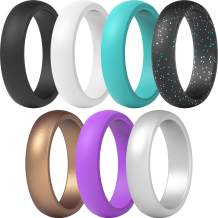 ThunderFit Silicone Wedding Band for Women - 5.5mm Wide - 2mm Thick