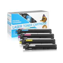 SuppliesOutlet Compatible Toner Cartridge Replacement for Brother TN210 / TN-210C (C,M,Y,K,4 Pack)