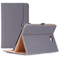 "ProCase Galaxy Tab A 10.1 Case 2016 Old Model, Stand Folio Case Cover for Galaxy Tab A 10.1"" Tablet SM-T580 T585 T587 (NO S Pen Version) with Multiple Viewing Angles, Card Pocket -Grey"