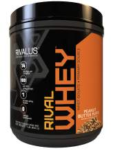 Rivalus Rivalwhey – Peanut Butter Puffs 1lb  - 100% Whey Protein, Whey Protein Isolate Primary Source, Clean Nutritional Profile, BCAAs, No Banned Substances, Made in USA