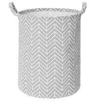 "Laundry Hamper, Large Laundry Baskets with Handles, (15.7""×19.7"") Toys Blanket Storage Basket, Clothes Hamper for Living Room Bedroom Laundry Room -Grey"