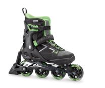 Rollerblade Macroblade 80 ABT Women's Adult Fitness Inline Skate, Black and Light Green, Performance Inline Skates