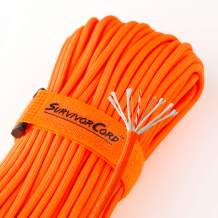 620 LB SurvivorCord   The Original Patented Type III Military 550 Paracord/Parachute Cord with Integrated Fishing Line, Multi-Purpose Wire, and Waterproof Fire Tinder.