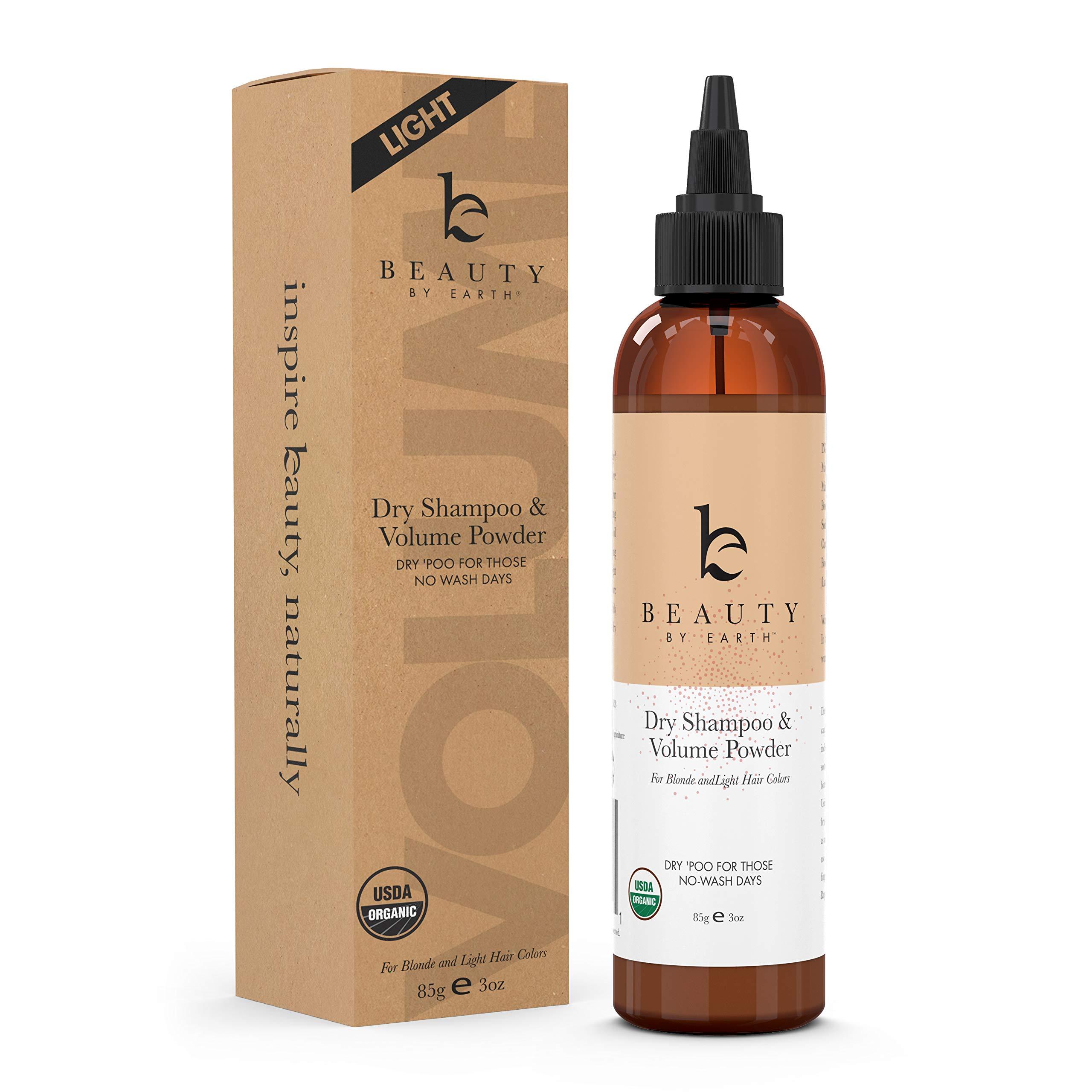 Organic Dry Shampoo Powder - Hair Volume, Volumizing Powder, Natural Dry Shampoo Volume Powder, Best Dry Shampoo, Perfect Hair Powder for Travel (Light, 3 oz) (Light)