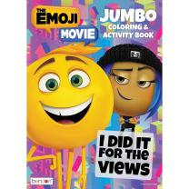 Bendon The Emoji Movie Jumbo Coloring and Activity Book, 64 Pages (40938)