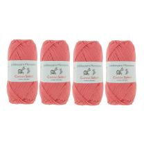 Cotton Select Sport Weight Yarn - 100% Fine Cotton - 4 Skeins - Col 505 - Soft Red