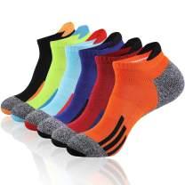JOYNÉE Mens Ankle Athletic Low Cut Socks for Men Sports Running Cushion 6 Pack