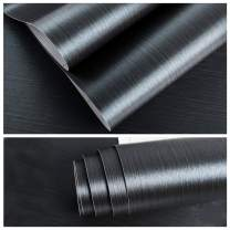 """VEELIKE Blue Brushed Stainless Steel Contact Paper 15.74""""×118.11"""" Rust Resistance Waterproof Removable Peel and Stick Wallpaper Extra Thick for Metal Surface Kitchen Cabinet Refrigerator Elevator Door"""