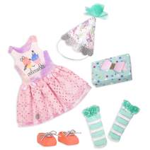 """Glitter Girls by Battat – What A Surprise! – 14"""" Deluxe Birthday Party Doll Outfit – Toys, Clothes, & Accessories for Girls Ages 3 & Up, Brown/A, Model:GG50098Z"""