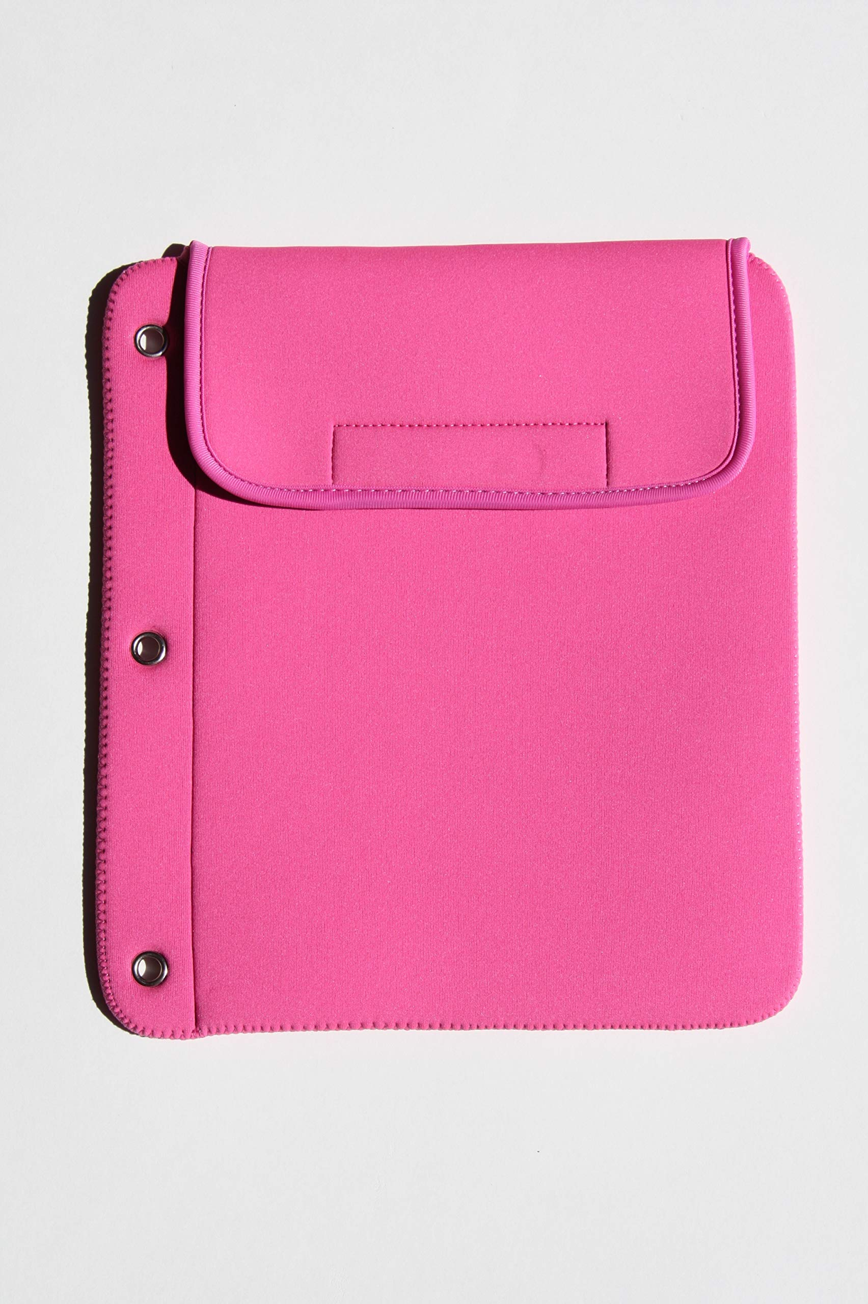 Tablet Cubbie Protective Patented 3-Ring Binder Neoprene Sleeve Case for iPad, e-Reader, Kindle, Tablets [iPad Air, iPad Mini, iPad Pro 9.7] Fits Over 40 Devices (Pink)
