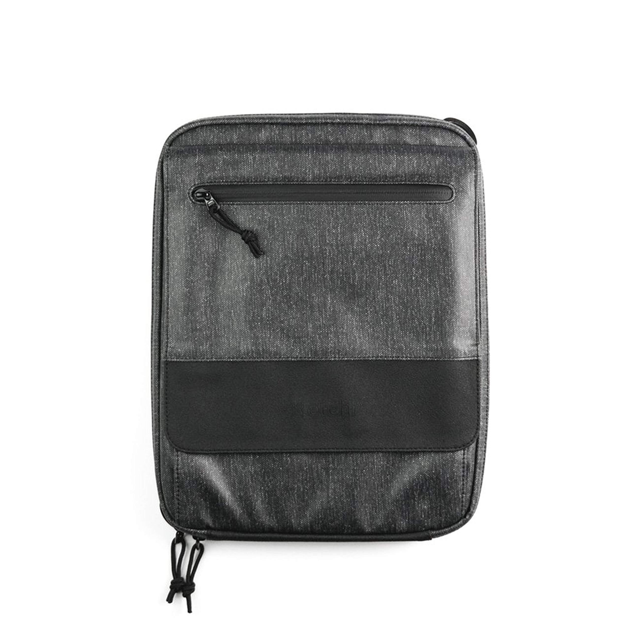 ETCHR Slate Mini Satchel - 2 in 1 Art Portfolio Case and Small Messenger Bag for Art Supplies - Multipurpose Weatherproof Travel Art Bag for Adults and Teens - Tripod Mountable Art Portfolio Bag