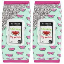 Beauty Concepts - 2 Pack (60 Count Each) Watermelon Detoxifying Facial Cleansing Wipes