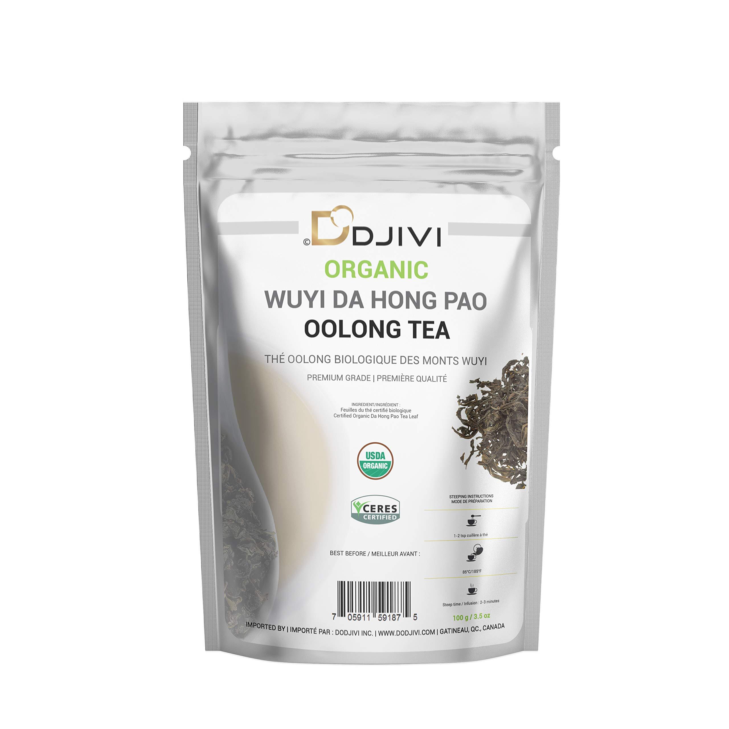 Dodjivi Organic Oolong Tea Organic Loose Leaf - Bulk Wuyi Mountain Da Hong Pao Tea – Big Red Robe Wu Long Tea - (100g/3.5 once)