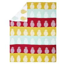 Brandream Soft Baby Blankets Cotton Cute Toddler Blankets for Boys Girls Crib Decorative Throw Blankets on Bed Couch 35 X 43 Inch, Colorful Pineapples