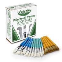 Crayola Paintbrush Variety Classpack, School Supplies, 36 Large Paint Brushes For Kids, Assorted, Model:05-0036