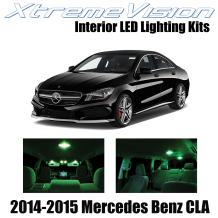 Xtremevision Interior LED for Mercedes Benz CLA 2014-2015 (13 Pieces) Green Interior LED Kit + Installation Tool