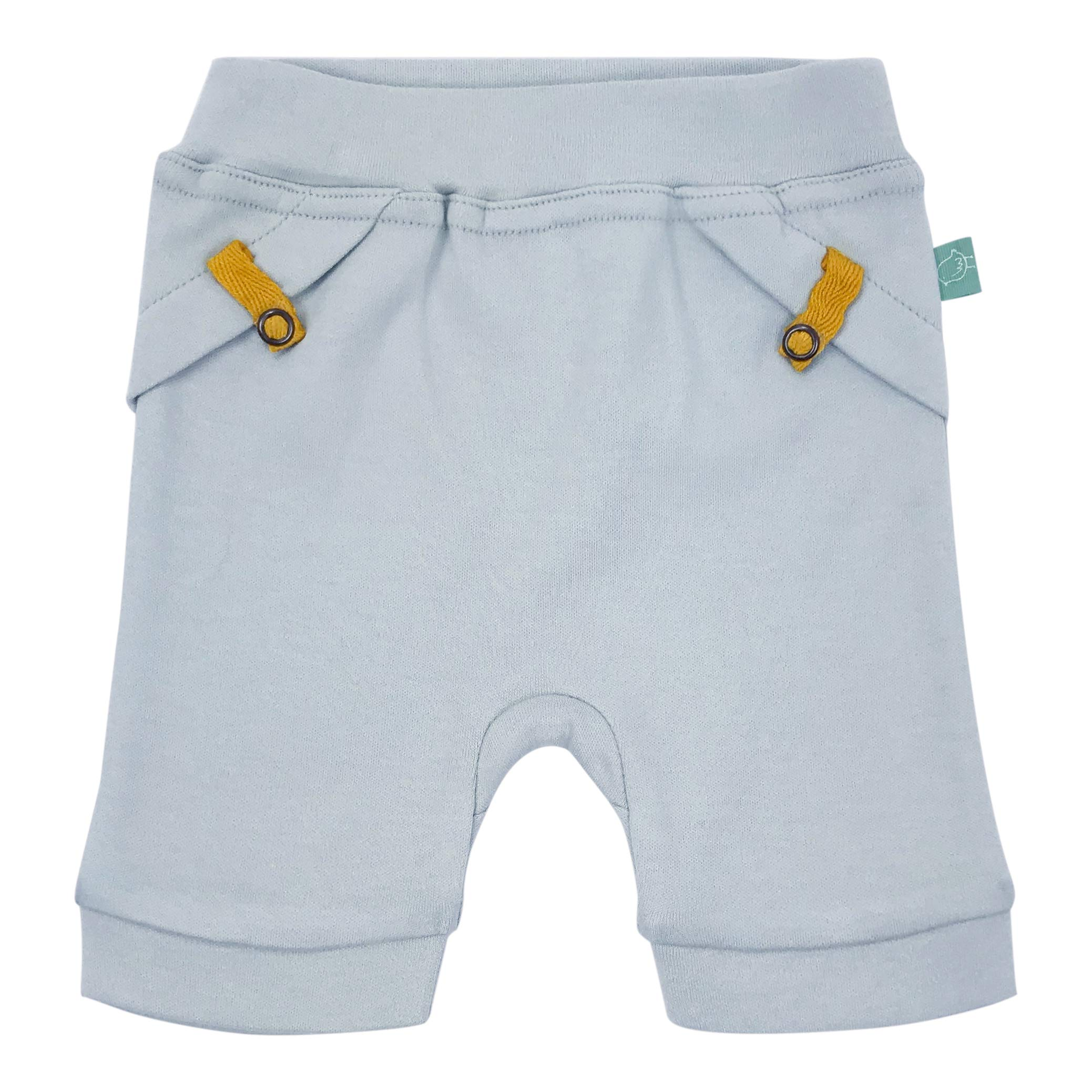 Finn + Emma Organic Cotton Pull-up Baby Shorts – Ice Flow Blue, 9-12 Months