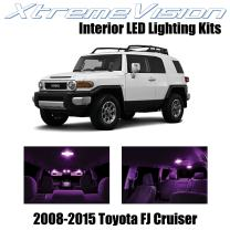 Xtremevision Interior LED for Toyota FJ Cruiser 2008-2015 (4 Pieces) Pink Interior LED Kit + Installation Tool