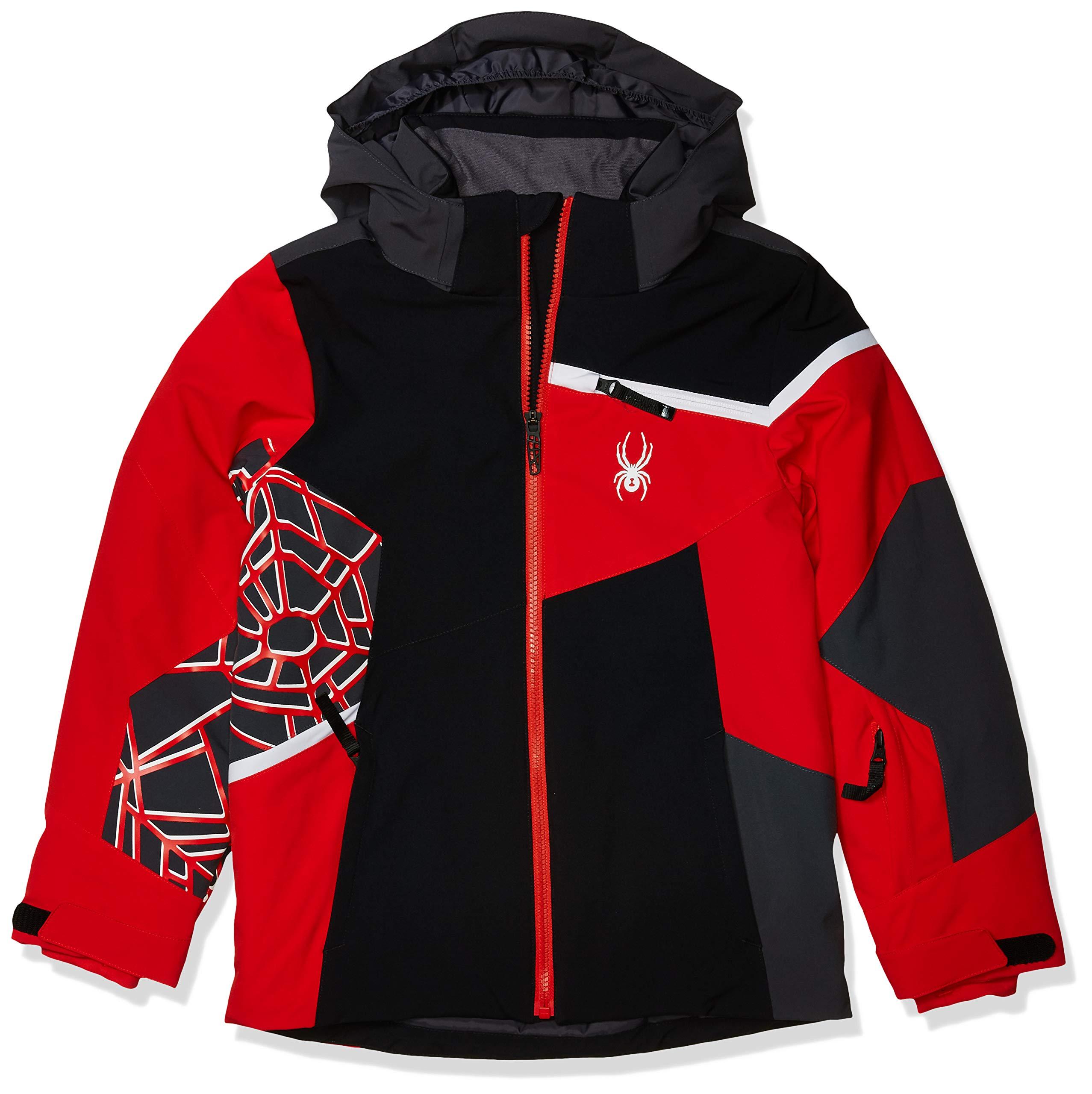Spyder Boy's Challenger Ski Jacket – Kids Full Zip Hooded Winter Coat