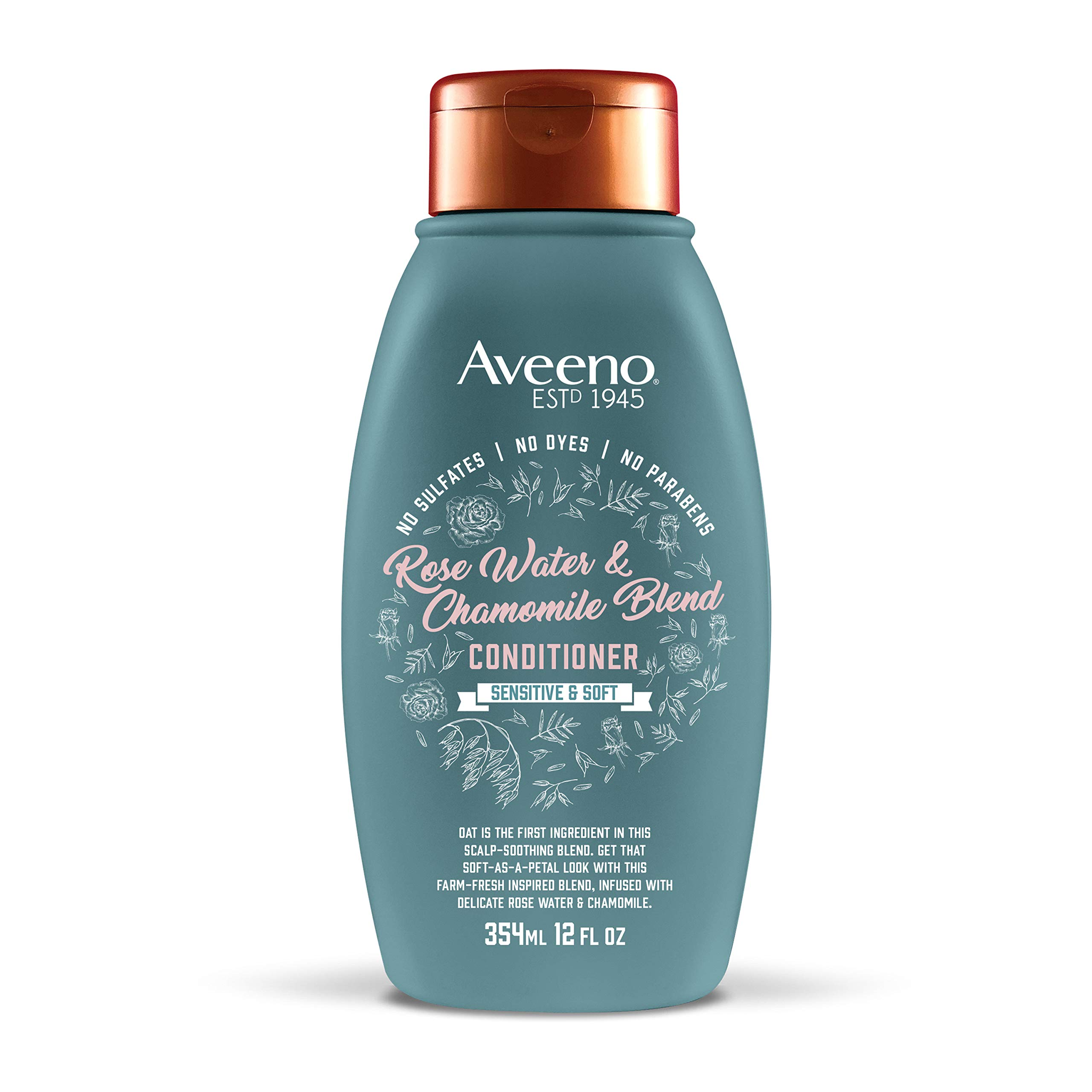 Aveeno Scalp Soothing Rose Water and Chamomile Blend Conditioner, 12 Ounce