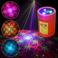 Chims Mini Laser Lights Portable Cordless RGB 32 Patterns Laser Music Activated Laser Lights for Festival Family School Disco Party Birthday Gift DJ Party Outdoor Travel Garden Forest Camping