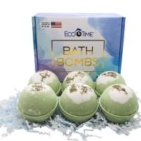 HANDMADE in USA - Bath Bombs Gift Set - 6x5oz THYME & WHITE TEA bombs - Natural and Organic - Gift Idea for Women Teens Girlfriend – Bubble Fizzies Bath Bomb with Moisturizing Shea Butter for Spa Bath