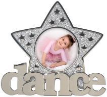 Malden International Designs Dance Glitter Star Metal Picture Frame, 3x3, Silver
